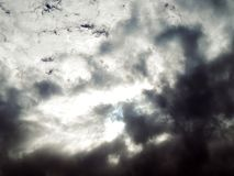 Picture of the blue sky with gory clouds Stock Images