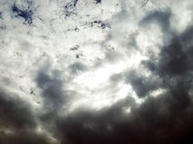 Picture of the blue sky with gory clouds Royalty Free Stock Image