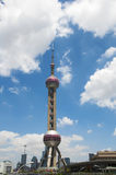 Picture of blue sky under the Oriental Pearl TV Tower Royalty Free Stock Photography