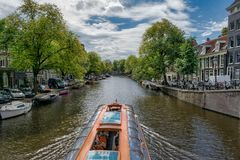 Cruising on the Canal royalty free stock photography