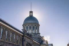 Picture of Bonsecours Market Marche Bonsecours under the snow in winter, Montreal, Quebec, Canada Stock Photo