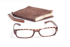 A picture of books, glasses Royalty Free Stock Images