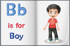 A picture of a boy in a book Royalty Free Stock Photos