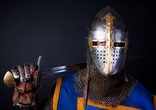 Picture of brave knight Royalty Free Stock Photos
