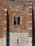 Castle wall. A picture of a brick castle wall Stock Photo