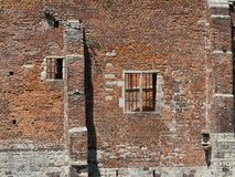 Wall of castle ruin. A picture of a brick castle wall Royalty Free Stock Images