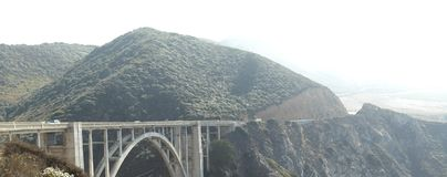 The bridge of the Big Sur. A picture of the bridge of the Big Sur, California USA, taken during a sunny day in the fall at a daytrip when staying with family Royalty Free Stock Photos
