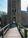 Castle entrance. A picture of the bridge and the entrance of the castle of Beersel Royalty Free Stock Image