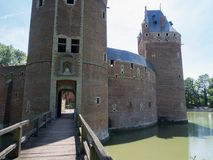 Castle entrance. A picture of the bridge and the entrance of the castle of Beersel Stock Images