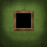 Picture brown frame with victorian pattern Stock Photography