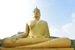 Picture of Buddha statue blue sky Royalty Free Stock Photography