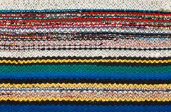 Picture of Bulgarian hand-made rag-carpets Royalty Free Stock Photos