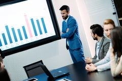 Picture of business meeting in conference room. Picture of business meeting in modern conference room stock photography