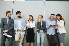 Picture of business people discussing in their company. Together royalty free stock photography