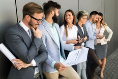Picture of business people discussing in their company. Together stock photography