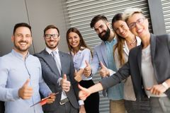 Picture of business people discussing in their company. Together royalty free stock photos