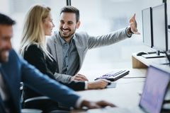 Picture of business people working together in office royalty free stock photography