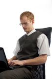 Picture of businessman during his working day Royalty Free Stock Image