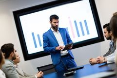 Picture of business seminar in conference room stock photography