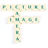 Picture, Camera and Image in Scrabble Crosswords Royalty Free Stock Photo