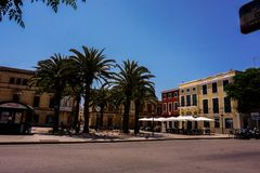 Streets of the city of Ciutadella, Menorca stock image