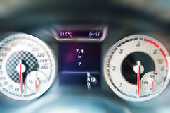 Blurred car dashboard Stock Image