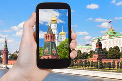 Picture of cathedral in Moscow Kremlin Royalty Free Stock Photography