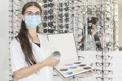 Ophthalmologist woman doctor