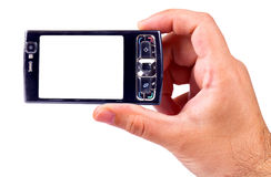 Picture with the cellphone Royalty Free Stock Photography