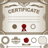 Certificate Template with additional design elemen Stock Photography