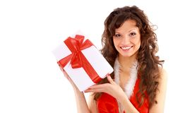Picture of cheerful santa helper Royalty Free Stock Image