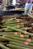 Picture of cheroots, Burmese cigars Royalty Free Stock Image
