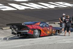 Pro mod drag car. Picture of chevrolet camaro pro mod in preparation during the grand national show, august 27-28 2016 stock photography