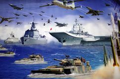 Picture of china military. China military force, stealth,  aircraft with airplane Royalty Free Stock Photography