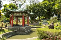 The picture of chinese garden in Rizal park, Manila, Philippines. The picture of chinese japanese garden in Rizal park, Manila, Philippines stock images