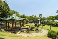 The picture of chinese garden in Rizal park, Manila, Philippines. The picture of chinese japanese garden in Rizal park, Manila, Philippines royalty free stock images