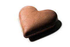 A picture of chocolate hearth isolated on white background Stock Photo
