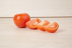Picture of chopped juicy tomatoes Stock Photo