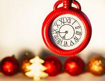 Picture of christmas concept over white background. New year eve Stock Photo