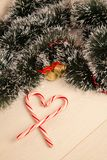 Picture of christmas gift and candy Royalty Free Stock Photos
