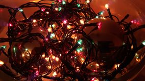 Christmas lights and ornaments. Picture of Christmas lights and ornaments royalty free stock photos