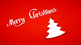 Picture of christmas tree 42. Illustration of christmas tree white color with red color background Stock Photos