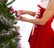 Picture of christmas tree's decoration Stock Photography