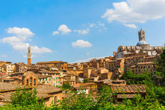 Picture of the cityscape of Siena, Italy Royalty Free Stock Photos
