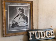 Clark Gable celebrated in Oatman, Arizona royalty free stock images