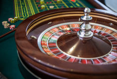 Picture of a classic casino roulette wheel. Royalty Free Stock Images