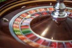 Picture of a classic casino roulette wheel. Royalty Free Stock Photo