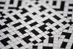 Crossword puzzle blur Royalty Free Stock Images