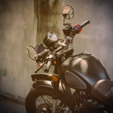 Picture of classic motorcycle Stock Images
