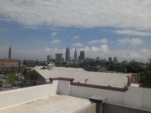 Cleveland Area Skyline. Picture of the Cleveland area skyline taken from the rooftop of a hostel stock image